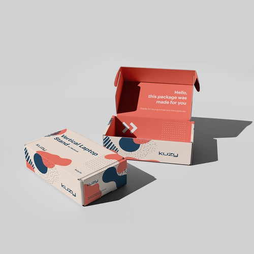 Box Packaging Design for Laptop Accessories