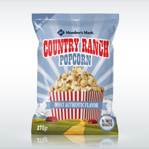 popcorn package artwork
