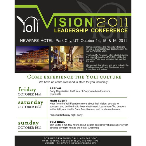 Design for Yoli, Inc Conference 2011
