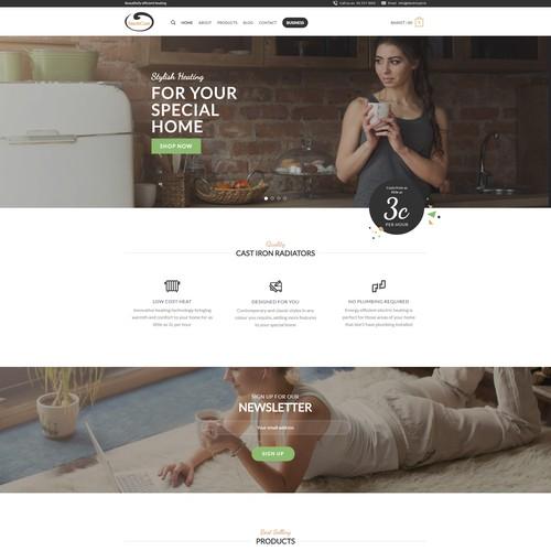 Iron Radiators ecommerce website