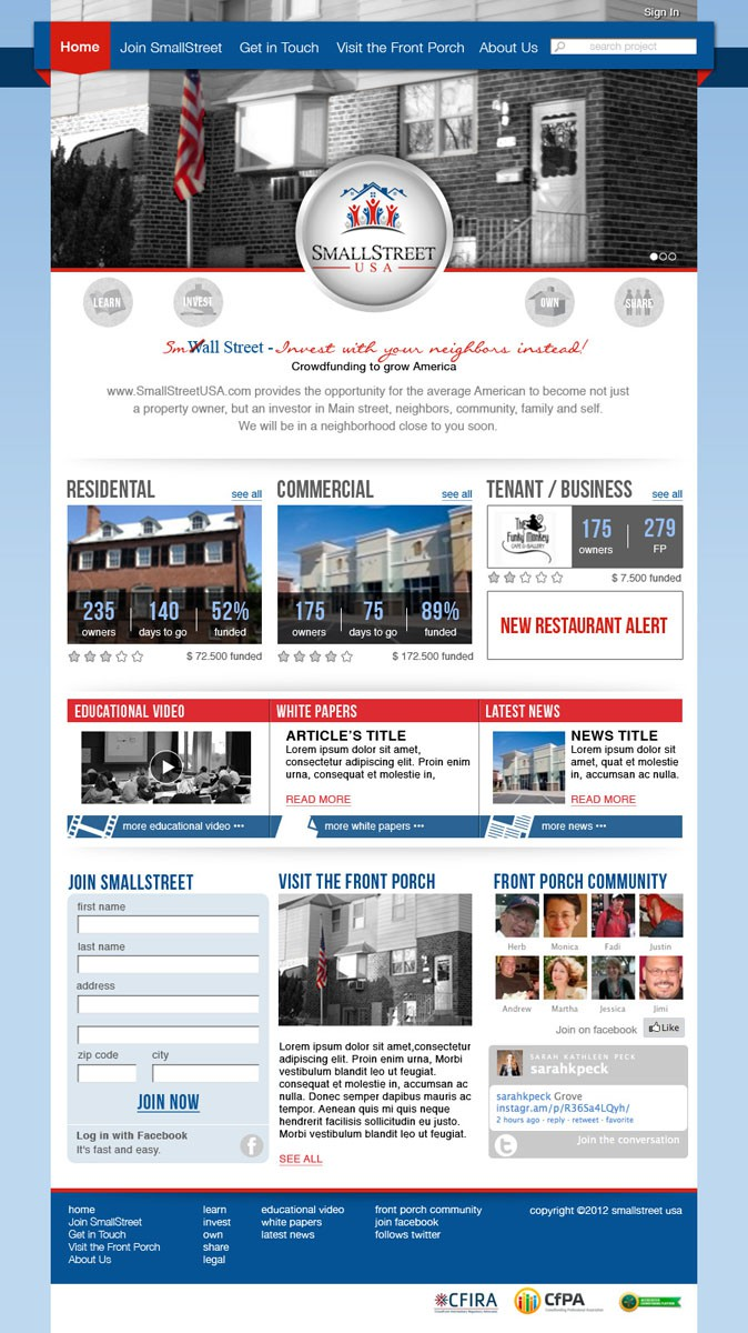 New website design wanted for SmallStreetUSA