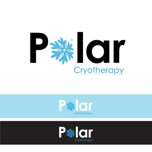 polar cryotheraphy logo concept