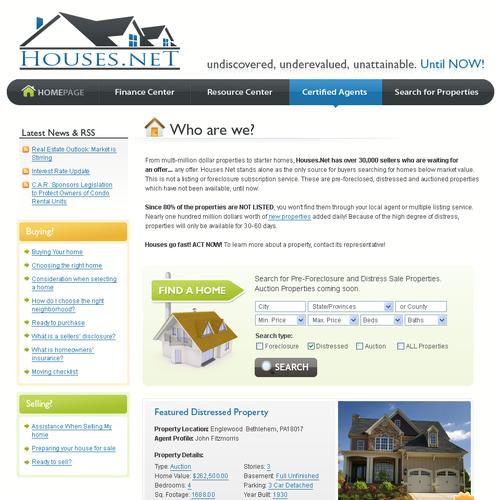 2008 -  Site design for home search service