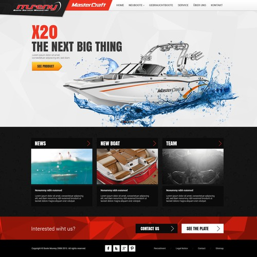 Relaunch BOAT Website (Mastercraft)