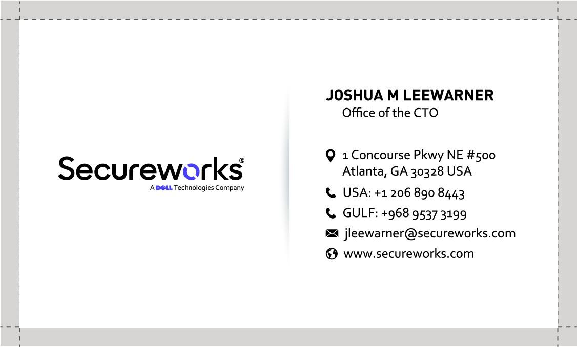 Business card re-design