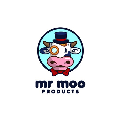 mr moo product logo concept