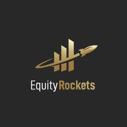 Financial market logo w. rocket