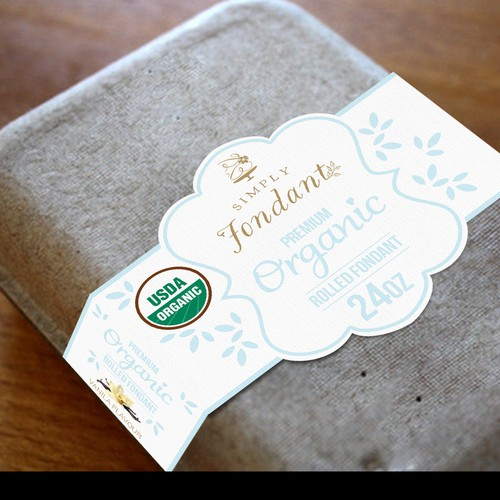 Label design for Simply Fondant