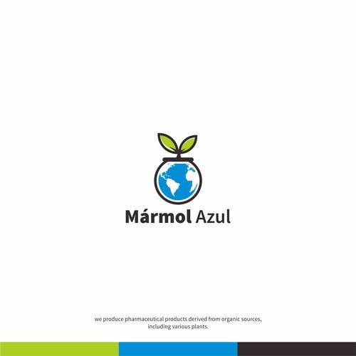 marmol azrul logo concept