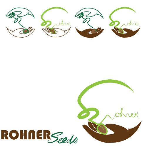 Create a logo for Rohner Seeds to be used on our website and seed packets