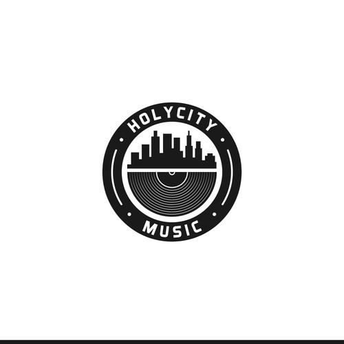 Badge-Type Logo for Music Studio