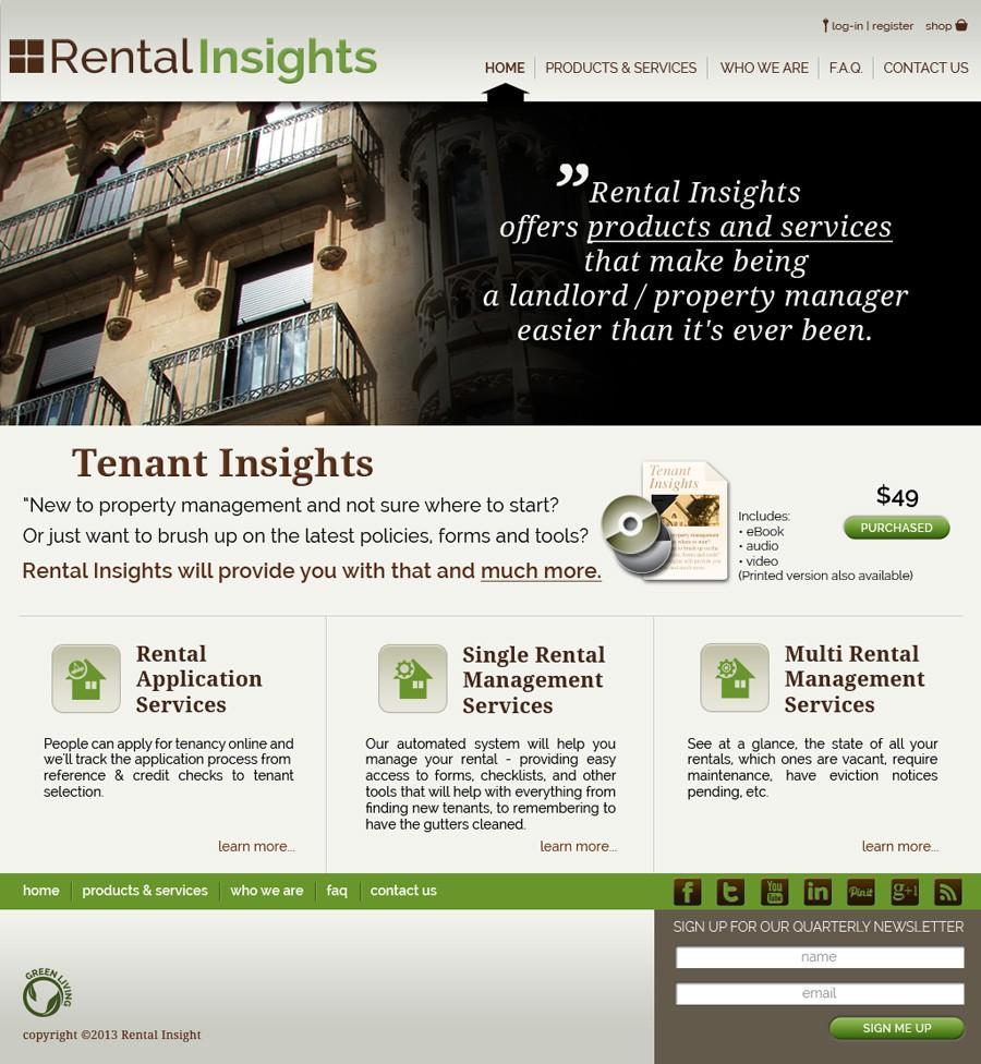 Rental Insights needs a new website design
