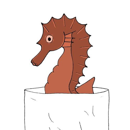 pocket marine seahorse