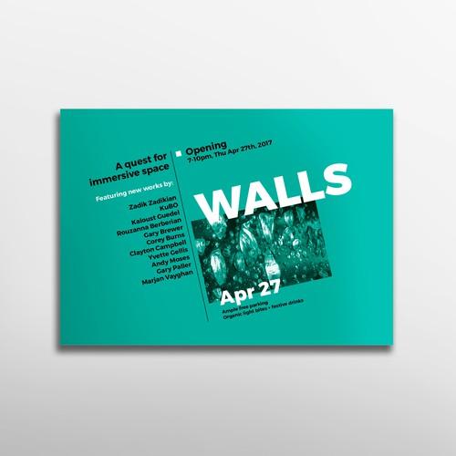Bold modern flyer for an art event