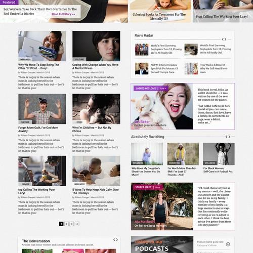 UI design for a Women news website