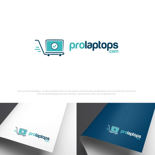 Creative and clean logo design for Pro Laptops