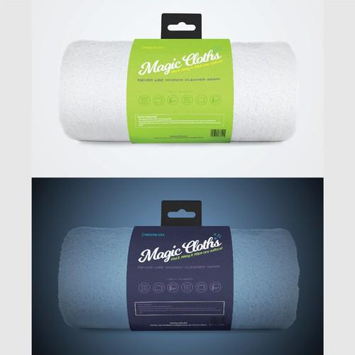 Packaging for Magic Towel