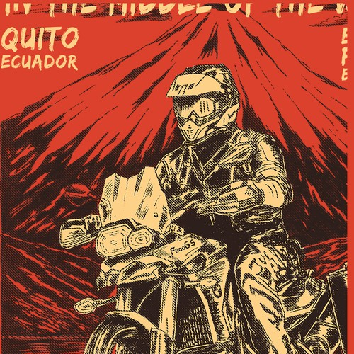 Motorcycle Adventure T-Shirt for Ecuador Freedom Bike Rental