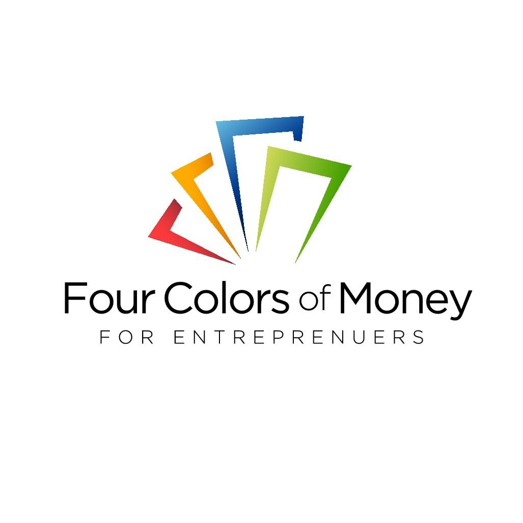 Create logo for entrepreneur blog, podcast: 4ColorsofMoney