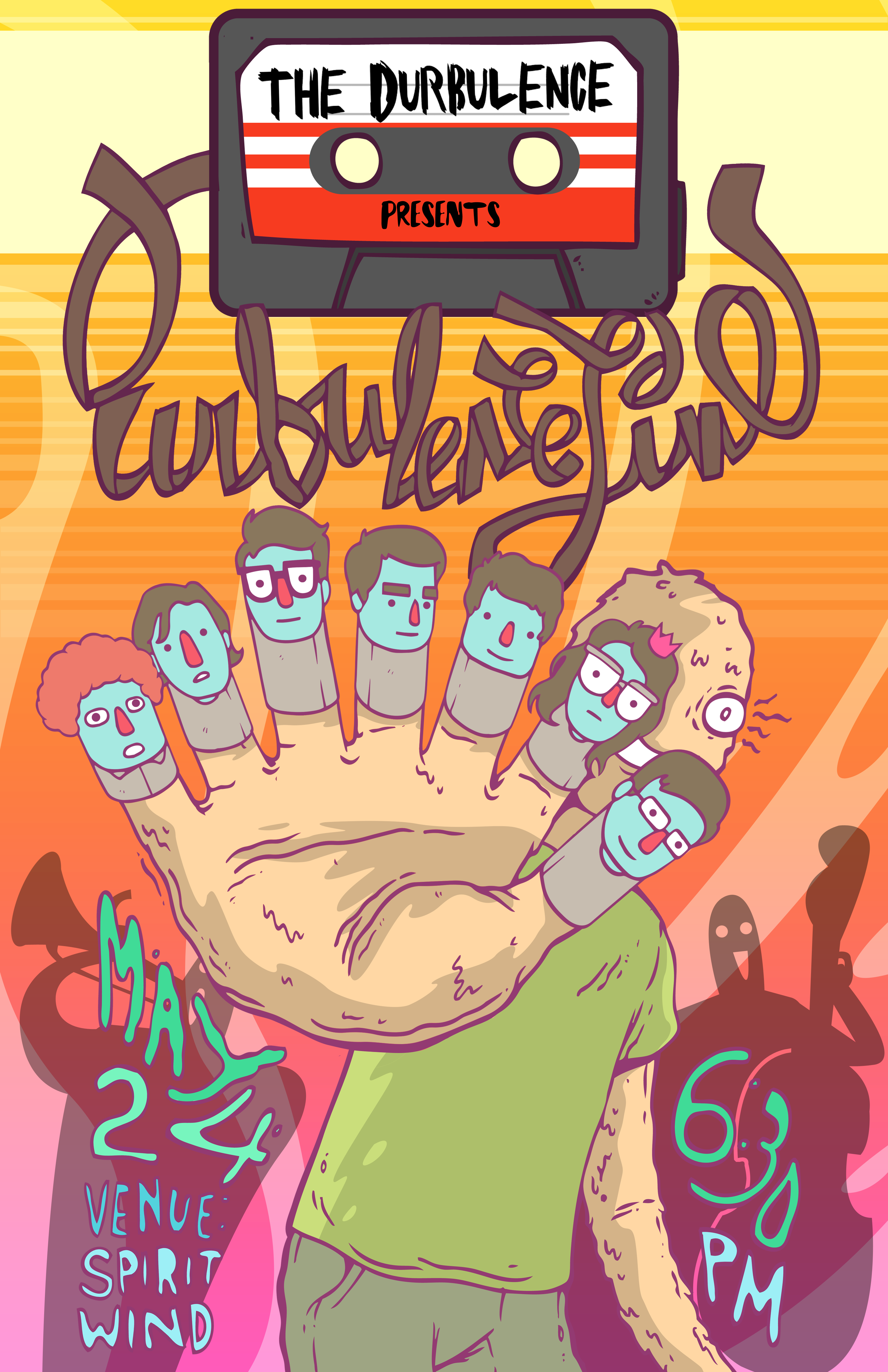 Rock Poster for an Art Group called The Durbulence