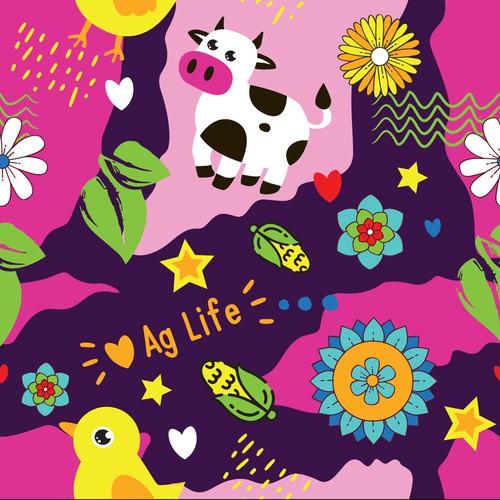 Farm AgLife Pattern Design