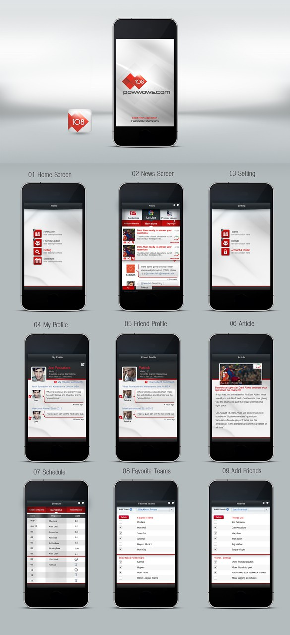 108powwows.com = Hot new Web-nxt social sports startup needs awesome mobile app design!
