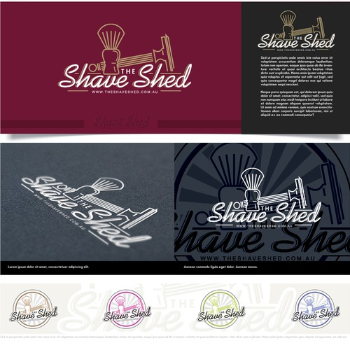 logo for The Shave Shed