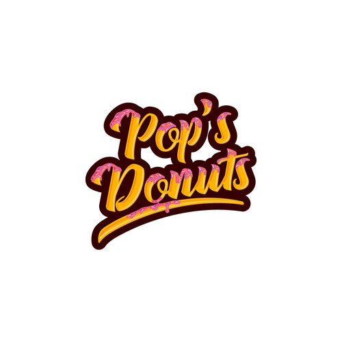 Logo concept for Pop's Donuts