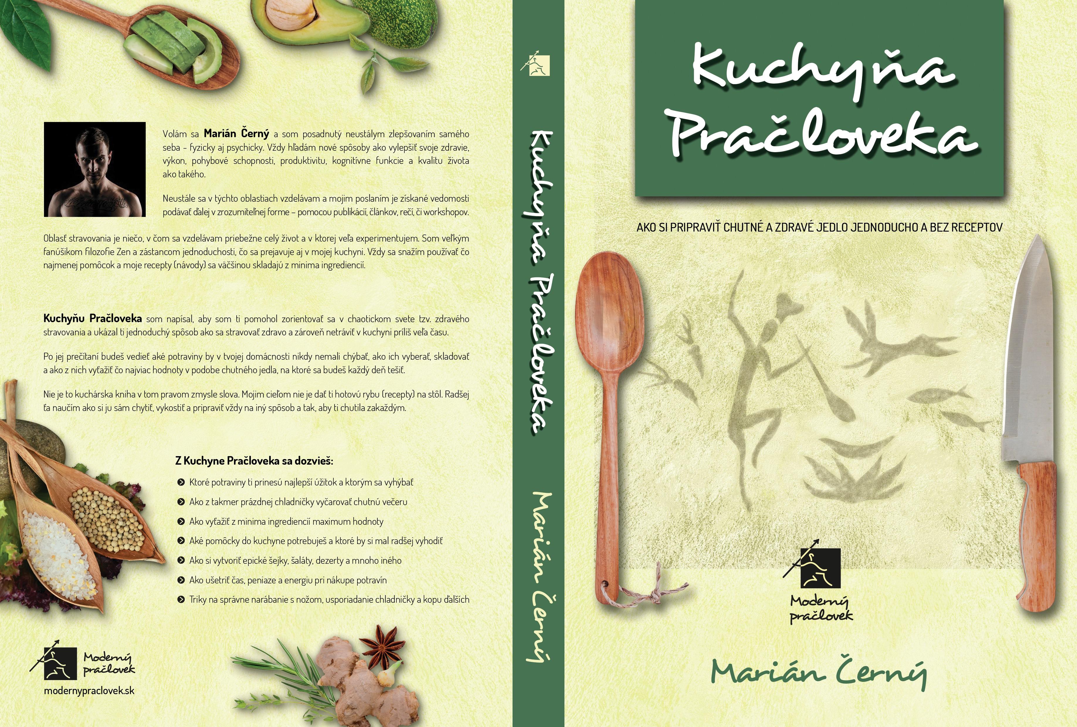 Create a book cover for the Caveman's non-cookbook