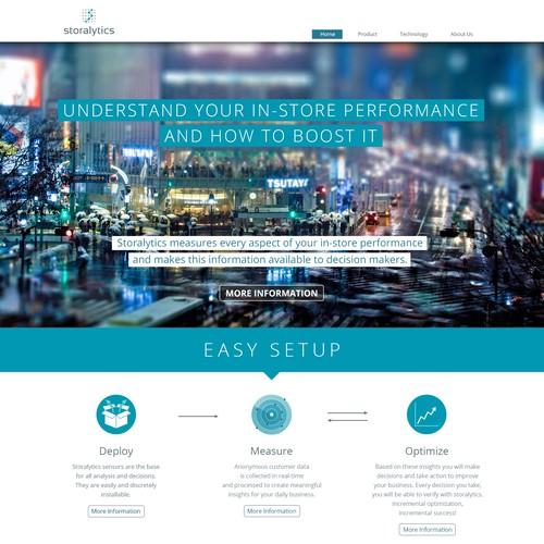 Webdesign for a  technology start-up