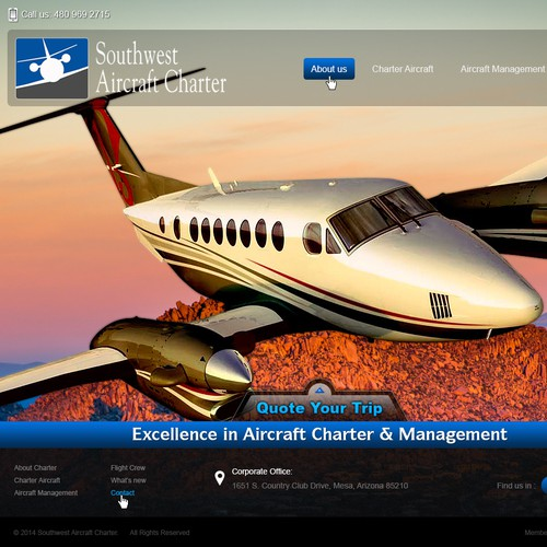 New website for Southwest Aircraft Charter