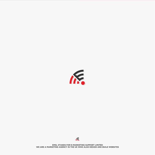 """E"" logo design communication"