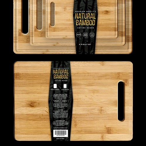 AVION Bamboo cutting board set