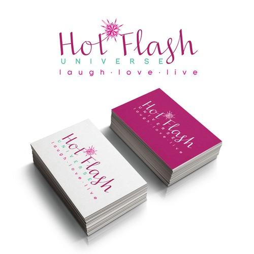 Creative strong, sexy, feminine logo for Hot Flash Universe!