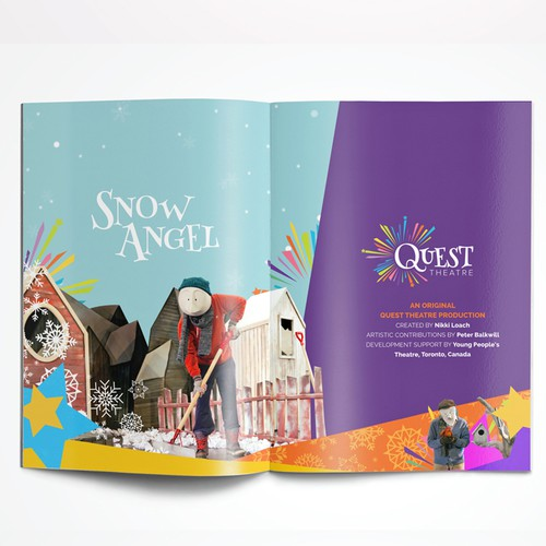 Flip book Design for Quest Theatre