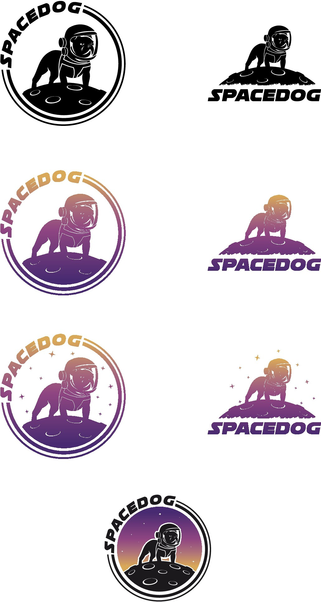 Space Dog logo needed for awesome LED dog harness