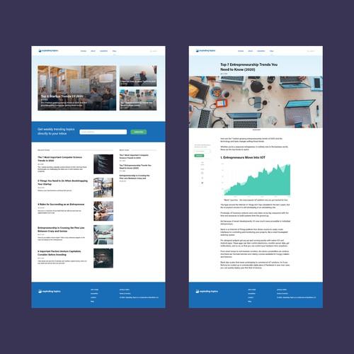 Blog Concept design for Exploding Topics