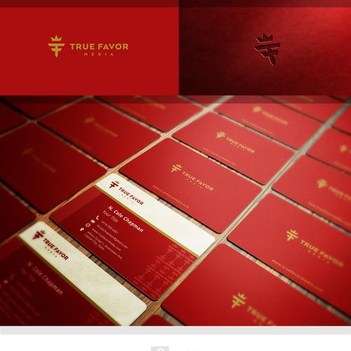 True Favor Media Logo and Business Card Design