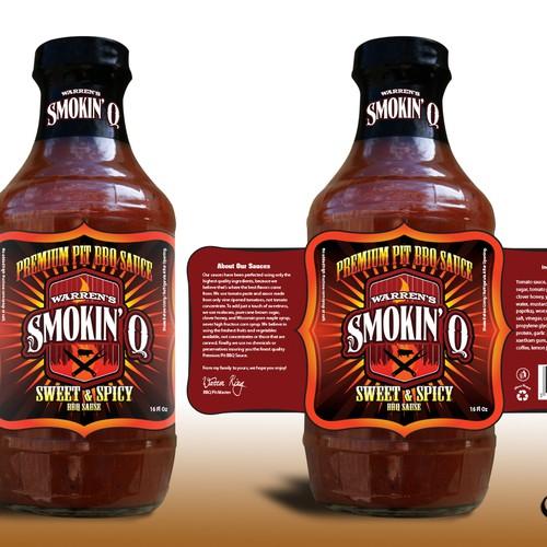 product label for Warren's Smokin' Q