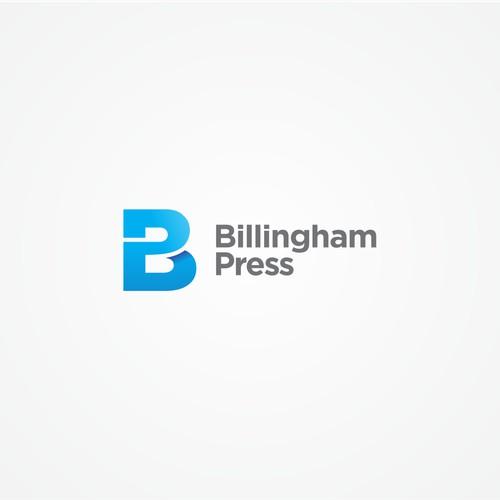 Monogram Bold Clean simple yet modern logo concept for Billingham Press