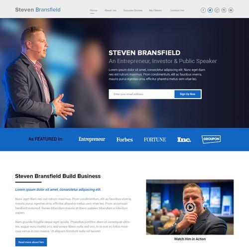 Landing Page for Steven