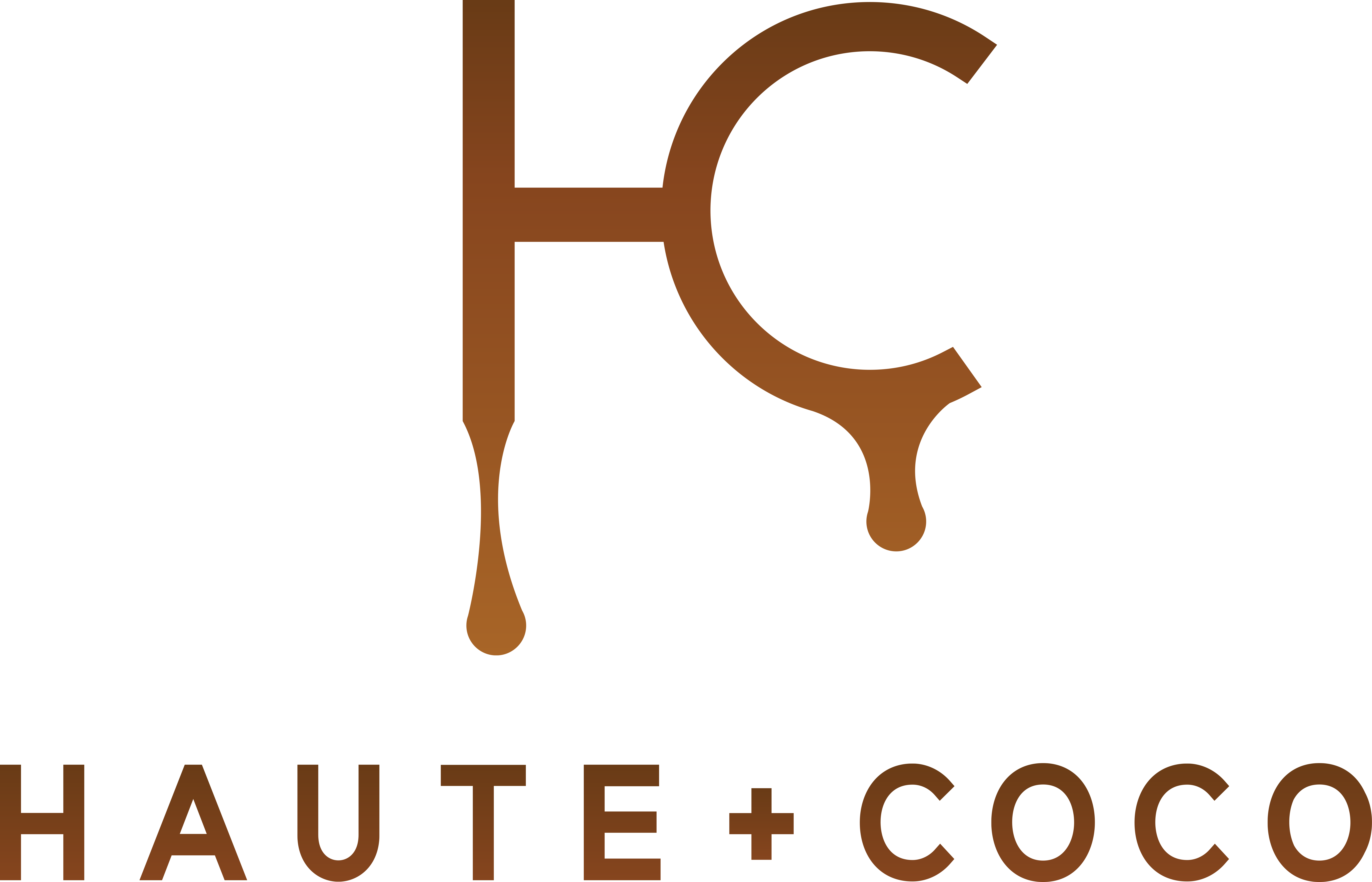 Create a liquid/color fading logo for high-end HAUTE + COCO Airbrush Tanning