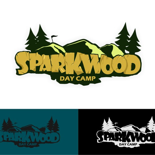 Create a fun, impactful logo for Sparkwood Day Camp
