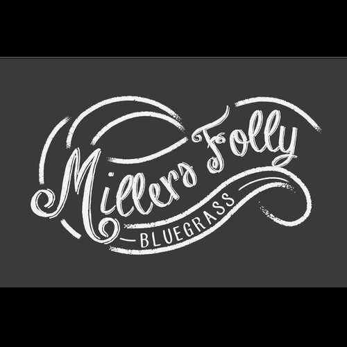 A typographic logo for a bluegrass band
