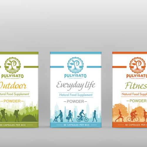 Cool packaging design for a natural food supplement