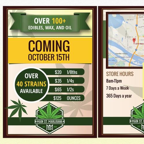 Flyer for Marijuana Store