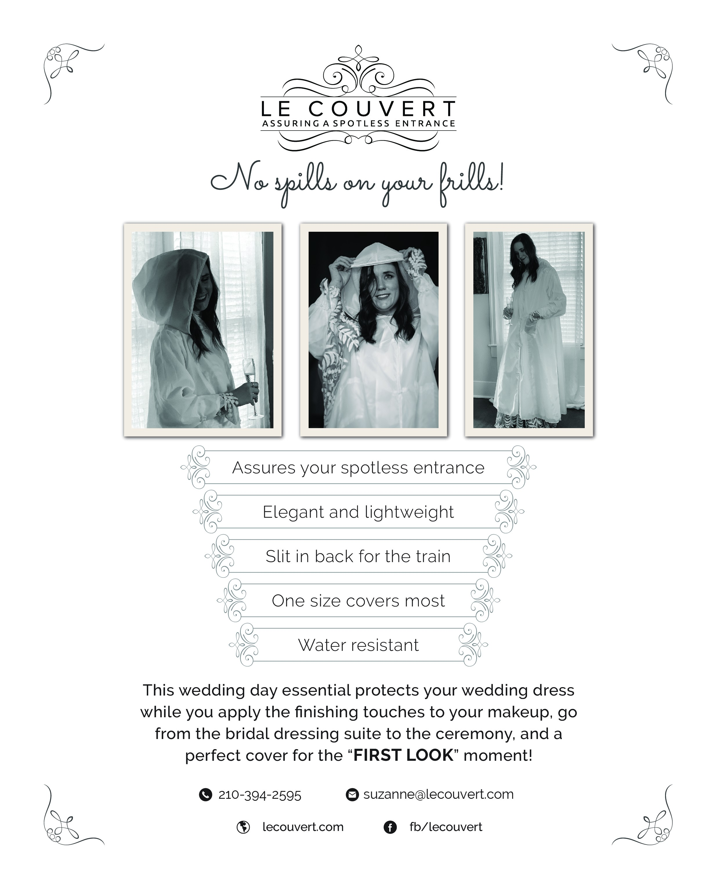 One Page Info Sheet for Le Couvert