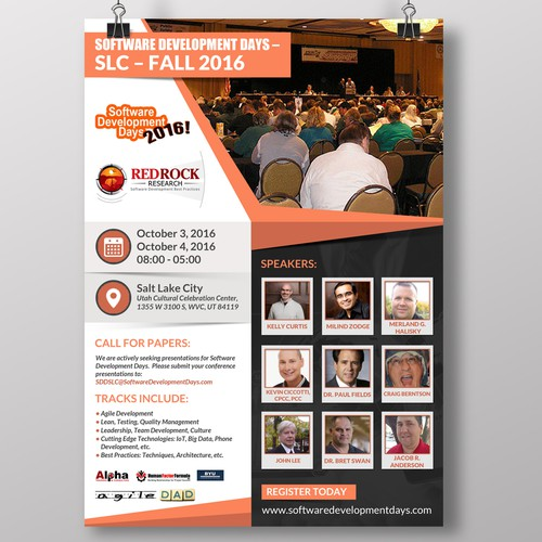 Software Development Conference Flyer Wanted
