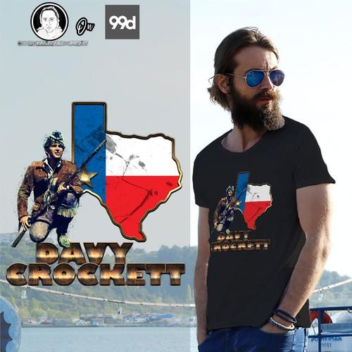 Davy Crocket T-Shirt Design- Final Round II