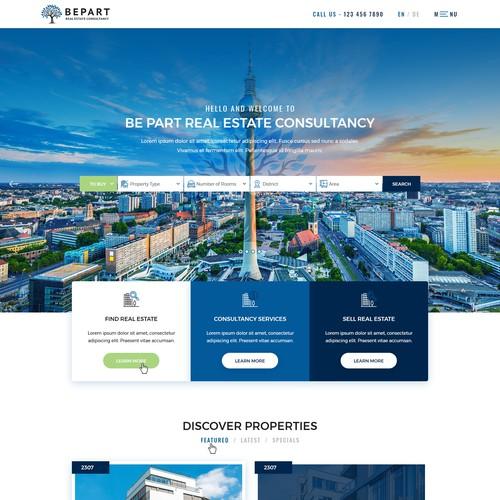 Website design for a Real Estate Company